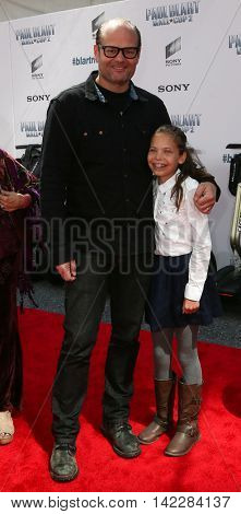 NEW YORK-APR 11: Actor Chris Bauer (L) and daughter attend the world premiere of