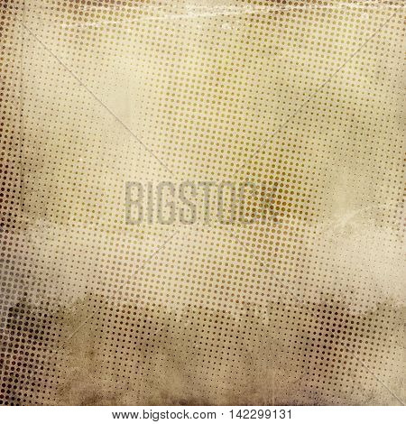 Vintage and grunge paper background with dots abstract patterns.Vintage and grunge halftone design.