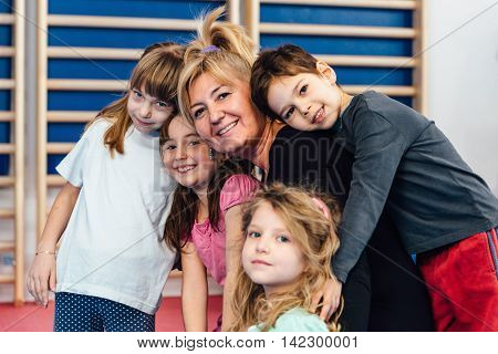 Children With Physical Education Teacher