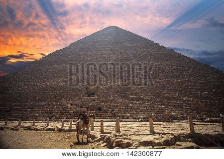 Image of the great pyramids of Giza in Egypt.