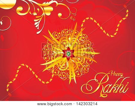 abstract artistic detailed red rakhi background vector illustration