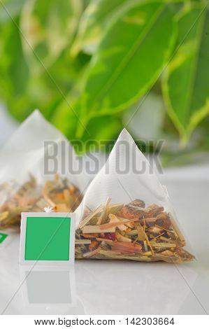 Pyramid dried fruits tea bag
