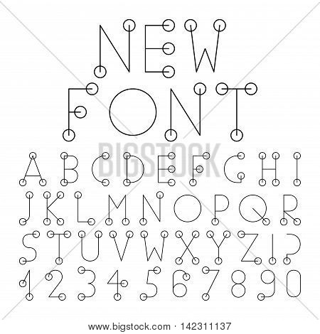 Vector alphabet set with numerals.Vector alphabet set with numerals.