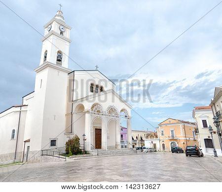 Lesina Gargano Puglia Italy buildings parish church