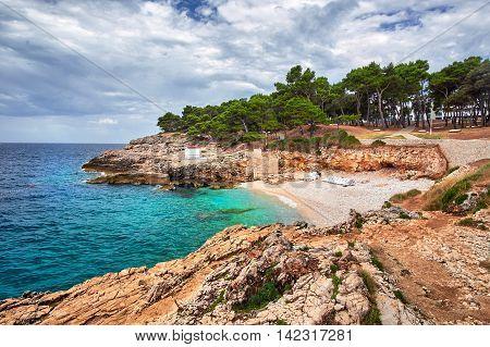 Verduela Beach Pula Croatia Croatia Rocky Beaches Landscape