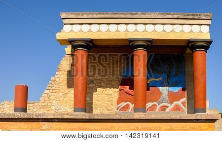 The Palace of Knossos in Crete, the main attraction of the island