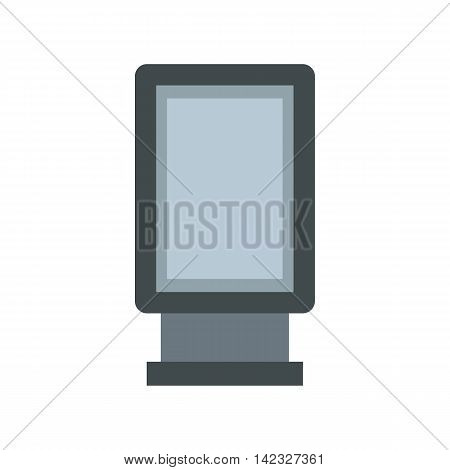 Blank lightbox icon in flat style on a white background