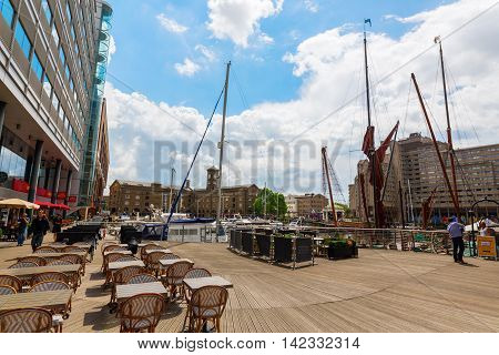 St. Katharine Docks In London, Uk