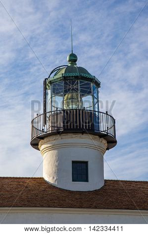 The Lighthouse lamp at Loma Point, California