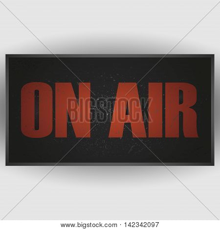 Vector on air sign on a white background.