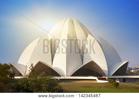 India . New Delhi Lotus temple .