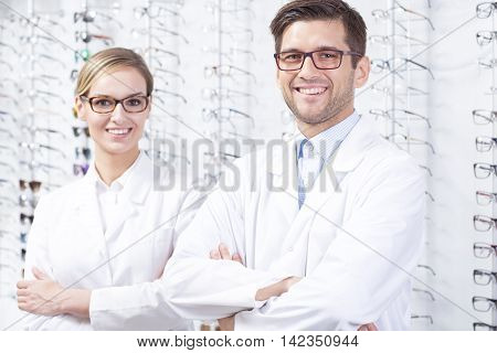 Opticians At Optician Shop