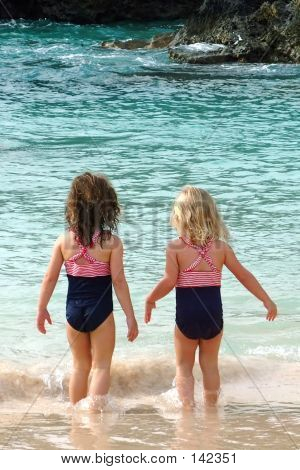 Two Little Bums On The Beach