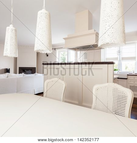 Romantic Dinning Room And Kitchen