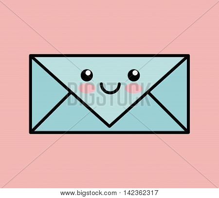 letter kawai icon vector illustration eps10 graphic