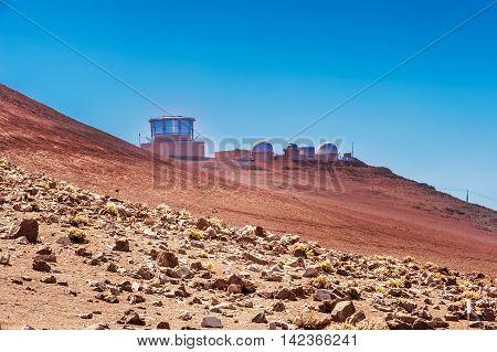 Astrological Observatory On Haleakala Volcano In Hawaii.