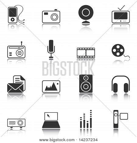 Mass Media Icons - White Series