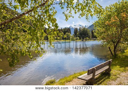 Bench At Quiet Lake