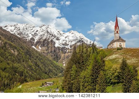 Village Church In South Tyrol
