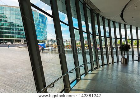 Interior View Of The City Hall In London, Uk