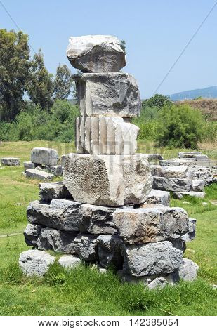 Ruines of the Temple of Artemis, one of the Seven Wonders of the Ancient World