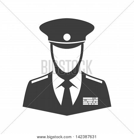 Soldier vector icon. Illustration of soldier or veteran of war isolated on white background in flat style. Icon man in uniform.