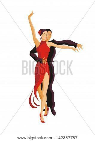 man and woman dancing the Latin American Rumba