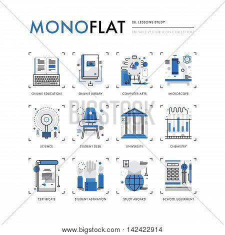 Lessons Study Monoflat Icons