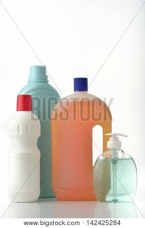 Liquid Soaps / High resolution image of cleaning liquid bottles