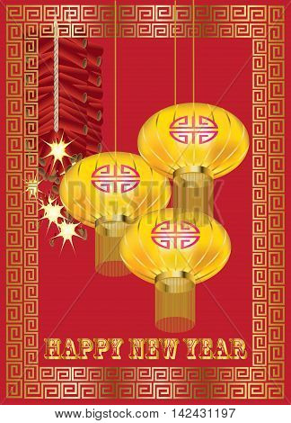 Traditional Chinese opera mask on red pattern background