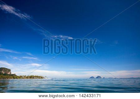 Blue sea and blue sky in Andaman sea.