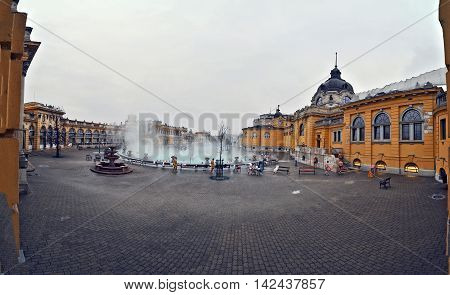 Thermal bath to outside at Budapest city in Hungary