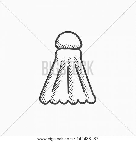Shuttlecock vector sketch icon isolated on background. Hand drawn Shuttlecock icon. Shuttlecock sketch icon for infographic, website or app.