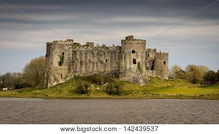 Carew Castle. A Norman Castle in Carew, Pembrokeshire, Wales
