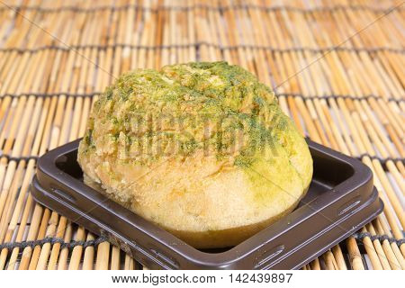 Green Tea Choux Cream on the tray