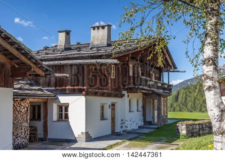 Old Farmhouses In South Tyrol
