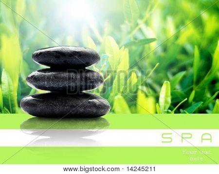 Spa stones in still life
