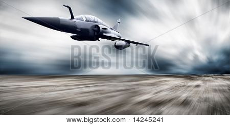 Military airplane speed poster