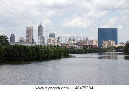 Skyline of the city Indianapolis in Indiana, USA