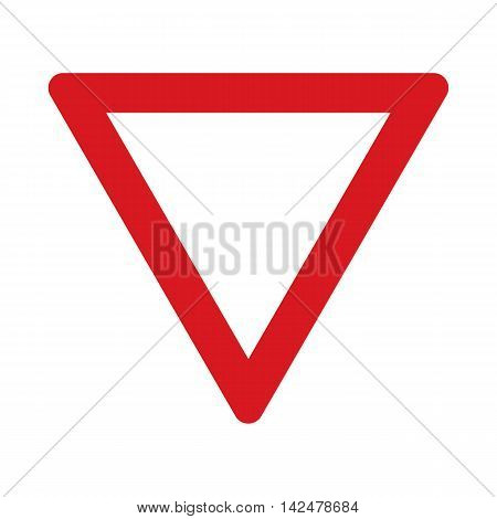 Traffic sign crossing with a priority road. Vector illustration.