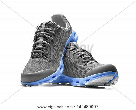 Unbranded modern sneakers isolated on a white background.