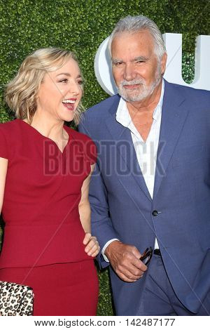 LOS ANGELES - AUG 10:  Geneva Carr, John McCook at the CBS, CW, Showtime Summer 2016 TCA Party at the Pacific Design Center on August 10, 2016 in West Hollywood, CA