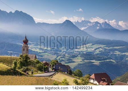 Mountain Panorama At Mittelberg