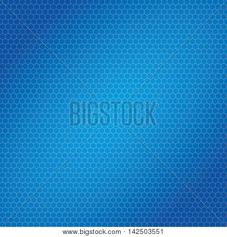 Blue hexagon and Bee hive shaped background