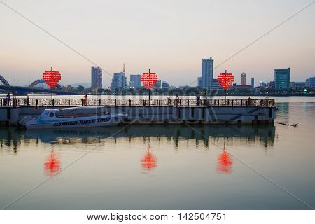 DANANG, VIETNAM - JANUARY 05, 2016: Terminal