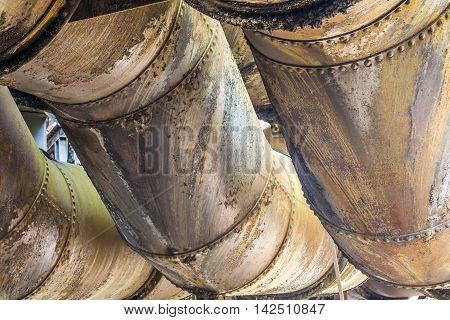 Detail At Volklingen Ironworks In Saar, Germany