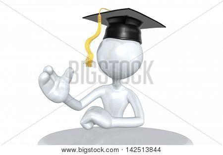 Graduate Character 3D Illustration