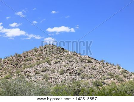 Rugged Hill In The Sonoran Desert