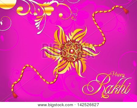 abstract artistic raksha bandhan rakhi vector illustration