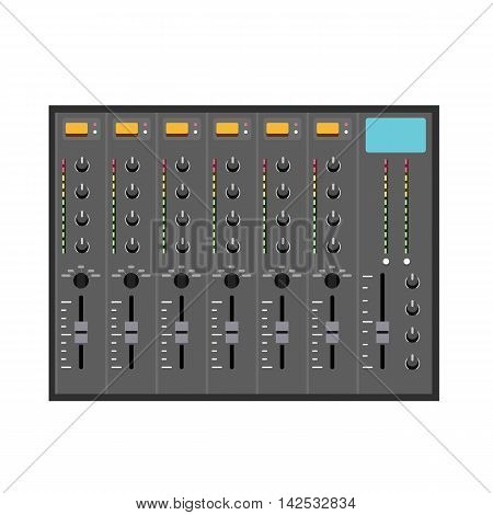 Vector Illustration in Flat Style of a Small Music Mixer